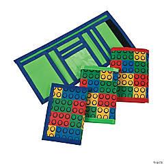 Color Brick Party Tri-Fold Wallets