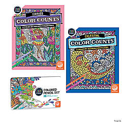 Color By Number Color Counts: Fairies and Celestial Set of 2 With Pencils