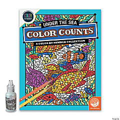 Color by Number Color Counts: Glitter Under the Sea