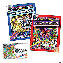Color by Number Color Counts: Set of 2 with 36 Pencils