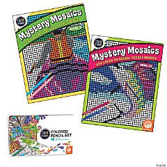 Color By Number Mystery Mosaics Set