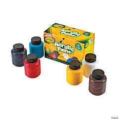 6-Color Crayola® Acrylic Paint Bottles