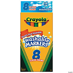 8-Color Crayola® Classic Washable Fine-Point Markers