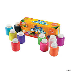 10-Color Crayola® Neon Colors Washable Kids' Paint