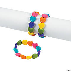 Color Heart Bead Bracelets