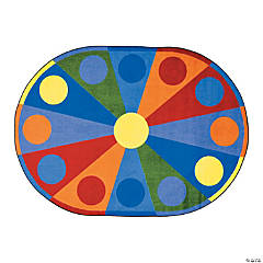 Color Wheel© Classroom Rug - 5 ft. 4
