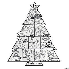 Color Your Own 12 Days of Christmas Posters