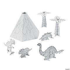 Color Your Own 3D Dinosaur Play Set