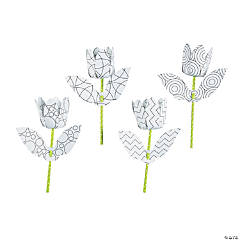 Color Your Own 3D Tulips Kit