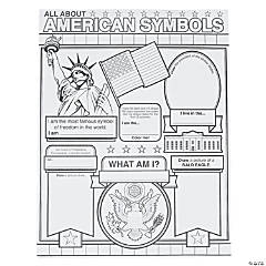 Color Your Own All About American Symbols Posters