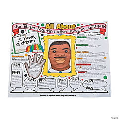 "Color Your Own ""All About Black History"" Posters"