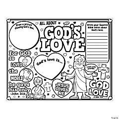 "Color Your Own ""All About God's Love"" Posters"