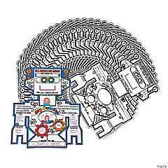Color Your Own All About Me Robot Poster