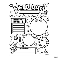 Color Your Own All About My Field Day Posters
