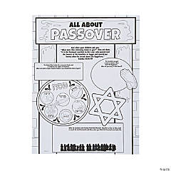 Color Your Own All About Passover Posters