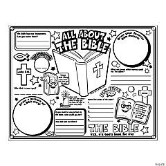 "Color Your Own ""All About the Bible"" Posters"