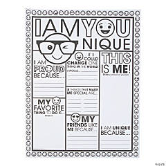 Color Your Own Be You Posters