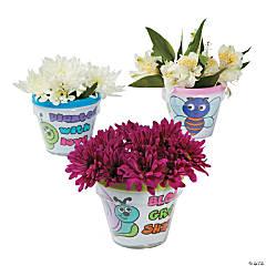 Color Your Own Bug Flowerpots