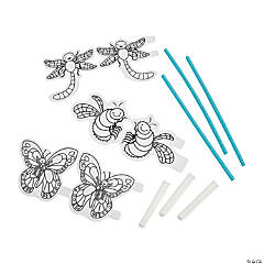 Color Your Own Bug Straw Shooter Craft Kit