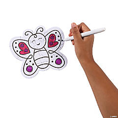 Color Your Own Butterfly Puzzles