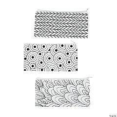 Color Your Own Canvas Doodle Pencil Cases