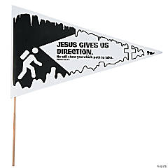 Color Your Own Cave Adventure Pennant Flags