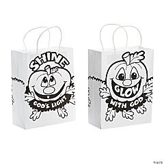 Color Your Own Christian Pumpkin Bags