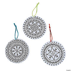 Color Your Own Christmas Mandala Ornaments