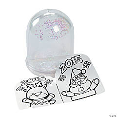 Color Your Own 2015 Christmas Snowglobes