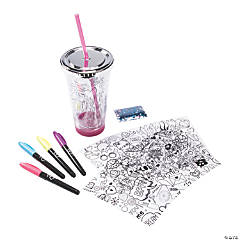 Color Your Own Confetti Tumbler Kit