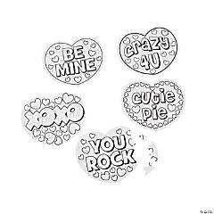 Color Your Own Conversation Heart Shape Puzzles