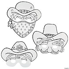 Color Your Own Cowboy Masks