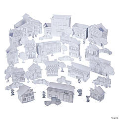 Color Your Own 3D Town