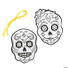 Color Your Own Day of the Dead Ornaments