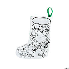 Color Your Own Dinosaur Stockings
