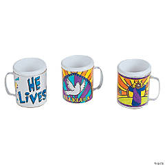 Color Your Own Easter Inspirational Plastic Mugs