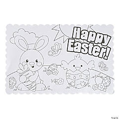 Color Your Own Easter Place Mats