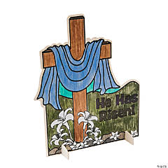 "Color Your Own ""Easter Resurrection"" Wood Cross"