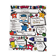 "Color Your Own Elementary Graduation Star ""Look What I Learned"" Posters"