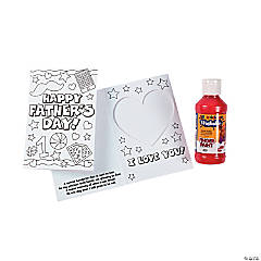 Color Your Own Father's Day Handprint Picture Frame Cards