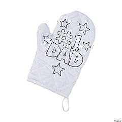 Color Your Own Father's Day Oven Mitts