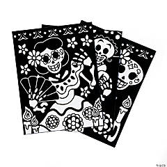 Color Your Own Fuzzy Day of the Dead Posters