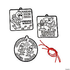 Color Your Own Fuzzy Faith Crow Ornaments