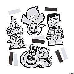 Color Your Own Fuzzy Halloween Magnets