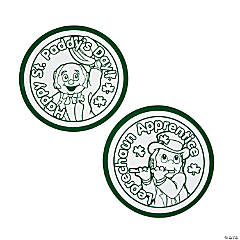 Color Your Own Fuzzy Leprechaun Badges