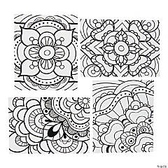 Color Your Own Fuzzy Mandala Posters