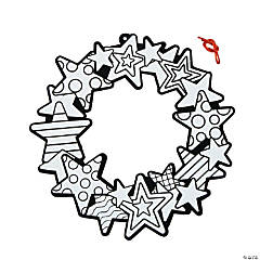 Color Your Own Fuzzy Patriotic Wreaths