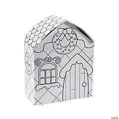 Color Your Own Gingerbread Houses