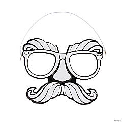 Color Your Own Glasses & Mustache Disguise Masks
