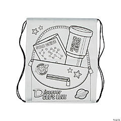 Color Your Own God's Galaxy VBS Backpacks